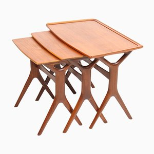 Danish Teak Nesting Tables by Johannes Andersen for CFC Silkeborg, 1960s