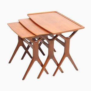 Tables Gigognes en Teck par Johannes Andersen pour CFC Silkeborg, Danemark, 1960s