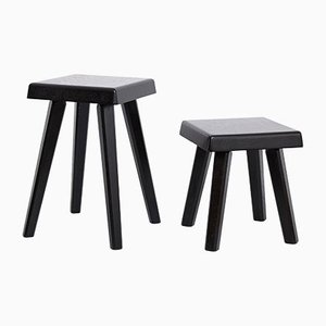 Special Black Edition Stools by Pierre Chapo for Chapo Creations, 2019, Set of 2