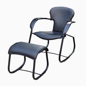 Rocking Chair et Tabouret Bavarius Noirs par Oscar Tusquets pour BD Barcelona, 2009