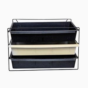 Mid-Century French Metal and Plastic File Rack by Charlotte Perriand, 1950s