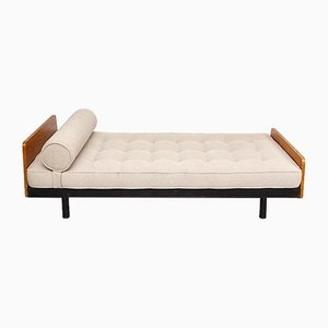 Vintage Black Metal & Wood Daybed by Jean Prouvé for Ateliers Prouve, 1950s