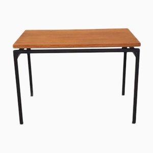 Metal & Teak Veneer Side Table, 1960s
