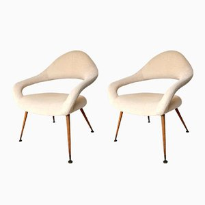 Mid-Century DU55 Chairs by Gastone Rinaldi for Rima, 1950s, Set of 2