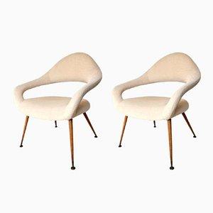 Mid-Century DU55 Stühle von Gastone Rinaldi für Rima, 1950er, 2er Set
