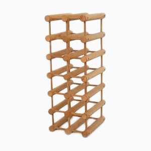 Danish Teak Wine Rack by Richard Nissen for Langaa, 1960s