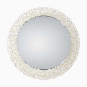Beleuchteter Vintage Spiegel mit Rahmen aus Kunststoff, 1970er