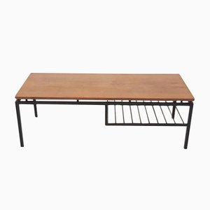 Tavolino da caffè in metallo, teak e legno impiallacciato di Cees Braakman per Pastoe, anni '60
