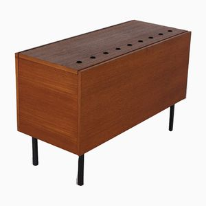 German Steel and Teak Buffet by Günter Renkel for Rego Mobile Moebel, 1950s