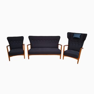 Scandinavian Modern Living Room Set by Søren Hansen for Fritz Hansen, 1950s