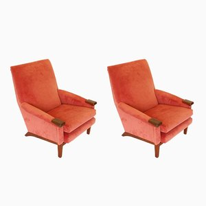 Vintage Teak Lounge Chairs, 1960s, Set of 2
