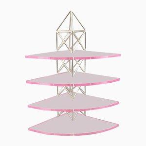Étagère Postmoderne en Lucite par Arch. Michael Wieser, 1983