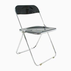 Vintage Beistellstuhl aus Metall und Kunststoff von Giancarlo Piretti für Castelli, 1970er