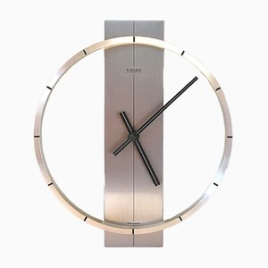 Moderne deutsche Uhr aus Aluminium von Kienzle International, 1960er