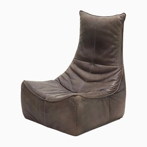 Leather Sculptural Lounge Chair by Gerard van den Berg for Montis, 1970s