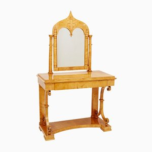 Antique Birch & Veneer Dressing Table, 1820s