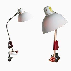 Lámparas de escritorio Bauhaus industriales de Reif Dresden, 1948. Juego de 2