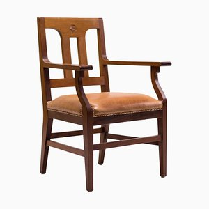 Antiker Armlehnstuhl aus Mahagoni von Kobus de Graaff