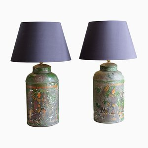 19th Century Chinese Tea Urn Table Lamps, Set of 2