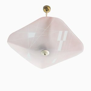 Pink Murano Glass Pendant, 1950s