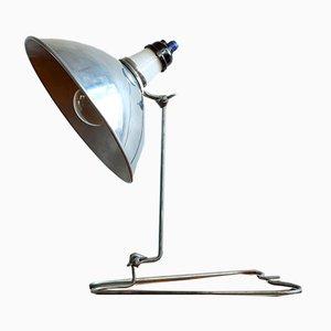 Lámpara de mesa industrial de metal y baquelita, años 60