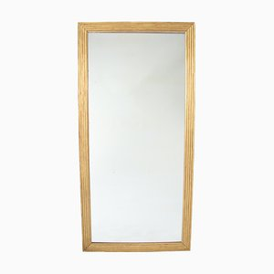 Large 19th Century Giltwood Mirror with Reeded Frame