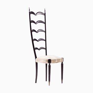 Beistellstuhl mit hoher Rückenlehne von Paolo Buffa für Marelli & Colico, 1950er