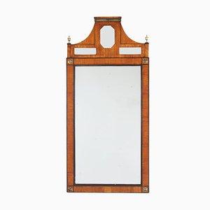 Antiker schwedischer Spiegel mit Rahmen aus Obstholz