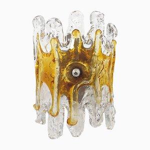 Italian Metal & Murano Glass Sconces from Mazzega, 1960s, Set of 2