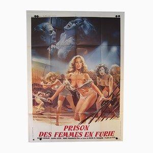 Französisches Vintage Women in Fury Filmposter, 1984