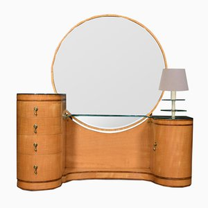 Vintage Art Deco Dressing Table with Mirror