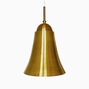 Italienische Mid-Century Hängelampe aus Messing in Glockenform, 1950er