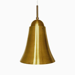 Mid-Century Italian Bell Shaped Brass Ceiling Lamp, 1950s