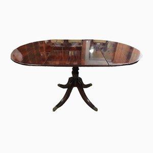Table de Salle à Manger Antique en Acajou et en Laiton