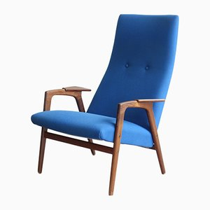 Fabric and Teak Easy Chair by Yngve Ekström for Pastoe, 1960s