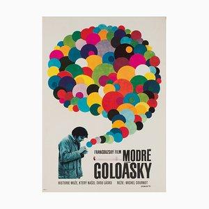 Póster checo de la película Les Gauloises Bleues de Vaclav Zeman, años 70