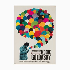 Tschechisches Les Gauloises Bleues Filmplakat von Vaclav Zeman, 1970er