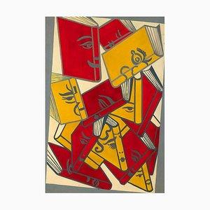 Tableau Glati Stati d'Animo dei Libri par Giacomo Balla, 1940s