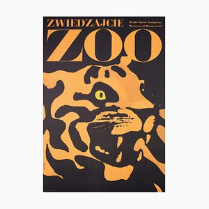 Polish Tiger Zoo Poster by Waldemar Swierzy, 1967