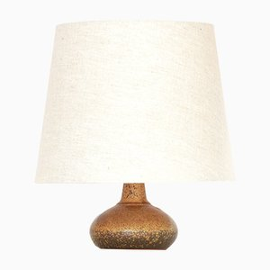 Linen and Stoneware Table Lamp by Rolf Palm, 1960s