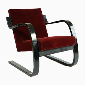 Silla Cantilever modelo 34 de Alvar Aalto para Artek, años 30