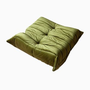 Green Velvet Togo Pouf by Michel Ducaroy for Ligne Roset, 1970s