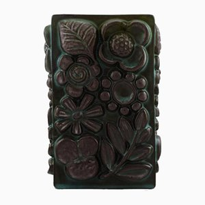 Ceramic Vase with Relief Flowers by Berit Ternell for Upsala-Ekeby, 1960s