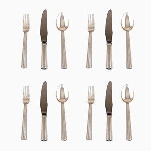 Vintage Bernadotte Silverware Complete Dinner Service by Georg Jensen, Set of 4