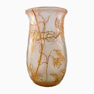 Jugendstil Cameo Vase mit Blumenmuster