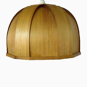 Lampada da soffitto Ellysett vintage in legno di Hans-Agne Jakobsson