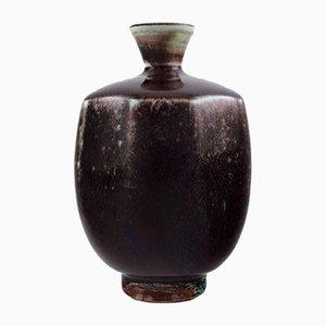 Vaso Aniara smaltato Mid-Century in ceramica di Berndt Friberg