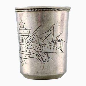 Tazza antica in argento di Alexander Vladislavovich Skovronsky, Russia, 1892