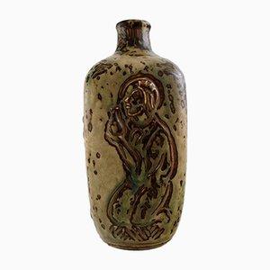 Vase Vintage en Céramique Vernis par Jais Nielsen pour Royal Copenhagen