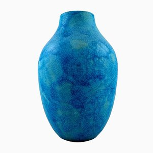 Vintage French Ceramic Vase by Raoul Lachenal, 1940s